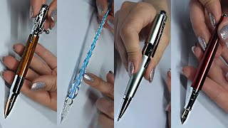 Testing Luxury Pens 🖋️ ASMR 🖋️ Whisper • Tapping • Writing Sounds