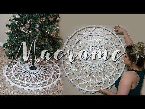HOW TO: DIY Macrame Tree Skirt & Wall Hanging