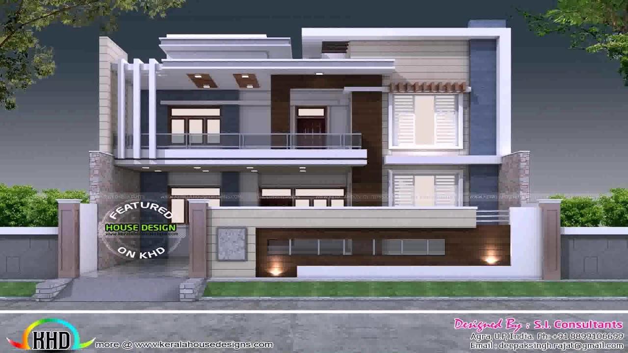 front elevation design for corner house youtube rh youtube com