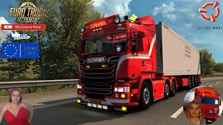 """Euro Truck Simulator 2 (1.38 Open Beta)   Scania R450 Streamline Weeda and Refeer Container Trailer Weeda with Animated Windows Delivery Rotterdam to Amsterdam Holland Motorcycle Traffic Pack by Jazzycat FMOD ON and Open Windows Naturalux Graphics and Weather Test Gameplay ITA Europe Reskin v1.0 by Mirfi + DLC's & Mods  SCS Software News Iberian Peninsula Spain and Portugal Map DLC Planner...2020 https://www.youtube.com/watch?v=NtKeP0c8W5s Euro Truck Simulator 2 Iveco S-Way 2020 https://www.youtube.com/watch?v=980Xdbz-cms&t=56s  #TruckAtHome #covid19italia Euro Truck Simulator 2    Road to the Black Sea (DLC)    Beyond the Baltic Sea (DLC)   Vive la France (DLC)    Scandinavia (DLC)    Bella Italia (DLC)   Special Transport (DLC)   Cargo Bundle (DLC)   Vive la France (DLC)    Bella Italia (DLC)    Baltic Sea (DLC)   American Truck Simulator New Mexico (DLC) Oregon (DLC) Washington (DLC) Utah (DLC)     I love you my friends Sexy truck driver test and gameplay ITA  Support me please thanks Support me economically at the mail vanelli.isabella@gmail.com  Roadhunter Trailers Heavy Cargo  http://roadhunter-z3d.de.tl/ SCS Software Merchandise E-Shop https://eshop.scssoft.com/  Euro Truck Simulator 2 http://store.steampowered.com/app/227... SCS software blog  http://blog.scssoft.com/  Specifiche hardware del mio PC: Intel I5 6600k 3,5ghz Dissipatore Cooler Master RR-TX3E  32GB DDR4 Memoria Kingston hyperX Fury MSI GeForce GTX 1660 ARMOR OC 6GB GDDR5 Asus Maximus VIII Ranger Gaming Cooler master Gx750 SanDisk SSD PLUS 240GB  HDD WD Blue 3.5"""" 64mb SATA III 1TB Corsair Mid Tower Atx Carbide Spec-03 Xbox 360 Controller Windows 10 pro 64bit"""