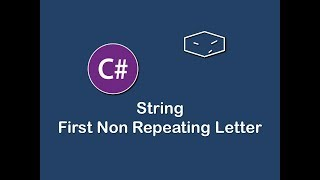 string first non repeating letter in c#