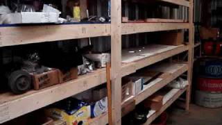 Wood Shelf Low Cost Easy  2x4 Construction