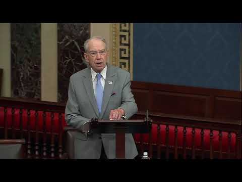 Grassley on Democrats Blocking JUSTICE Act Motion to Proceed