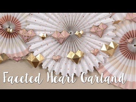 DIY Geometric Heart Garland! Modern & Sophisticated DIY