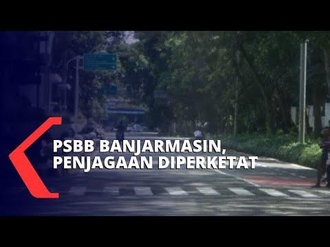 PSBB Banjarmasin, Keluar-Masuk Kota Dijaga Ketat Aparat