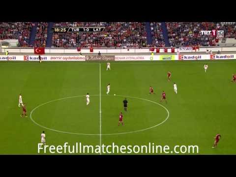 Turkey vs Latvia 1 half full match HD 28/05/2013