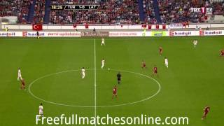 Turkey vs Latvia 1 half full match HD 28/05/2013