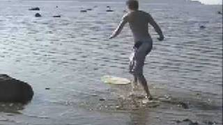 mud bay skimboarding with cameron 2002