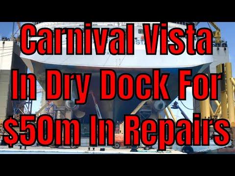 Carnival Vista Now In Dry Dock For $50m In Repairs In Grand Bahama