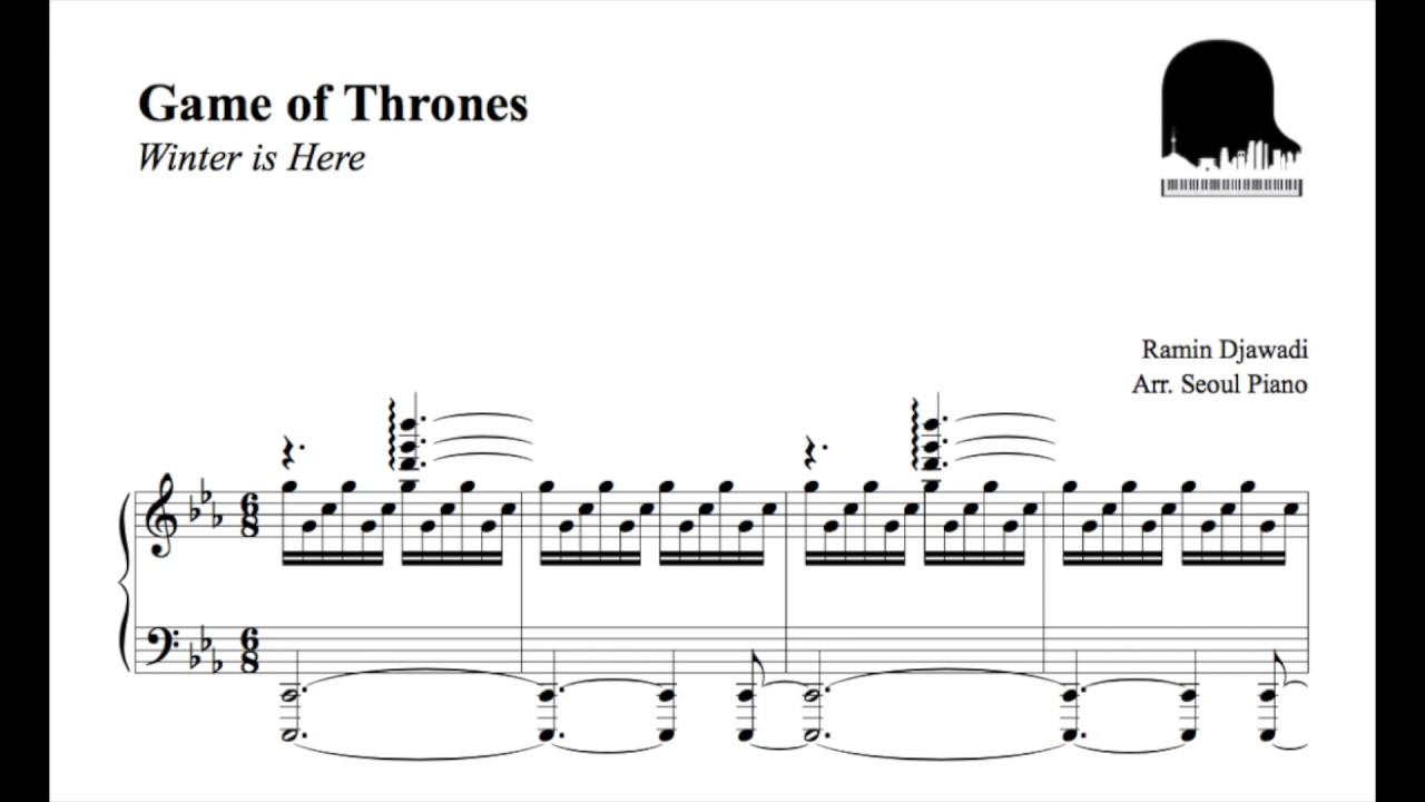 game of thrones season 7 39 winter is here 39 piano cover. Black Bedroom Furniture Sets. Home Design Ideas