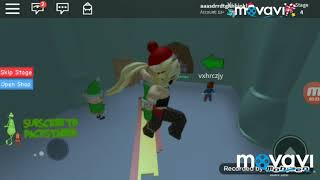 playing Roblox save new year from Grincha