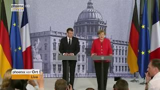 Pressekonferenz mit Angela Merkel und Emmanuel Macron am 19.04.18