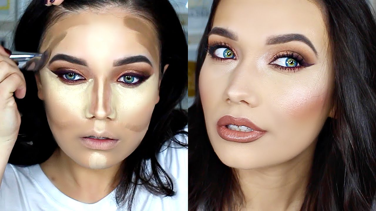Warm Amber & Burgundy Smoky Eye | Full Face Makeup Tutorial - YouTube