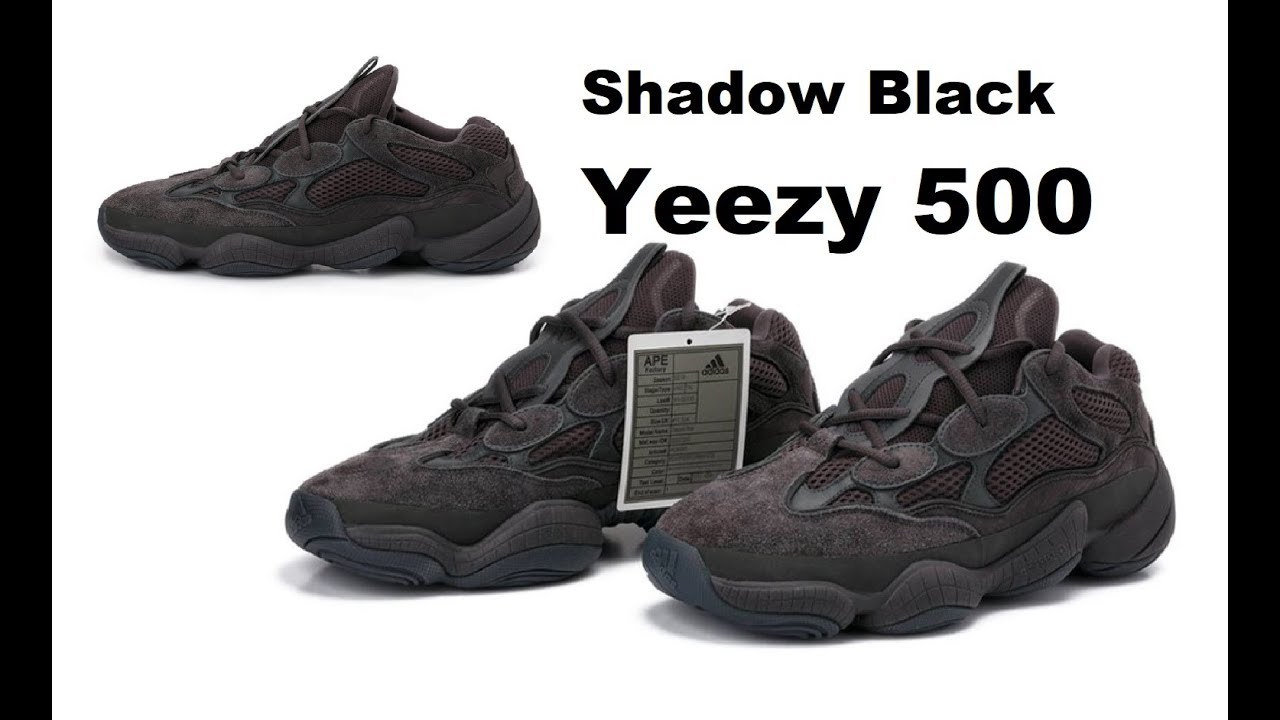 92e565ef06b KANYE WEST NEXT ADIDAS YEEZY SHADOW BLACK 500 BOOST SHOE RELEASE   DRAKE  GOING TO ADIDAS