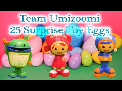 Opening 25 Team Umizoomi Funny Toys and Surprise Eggs