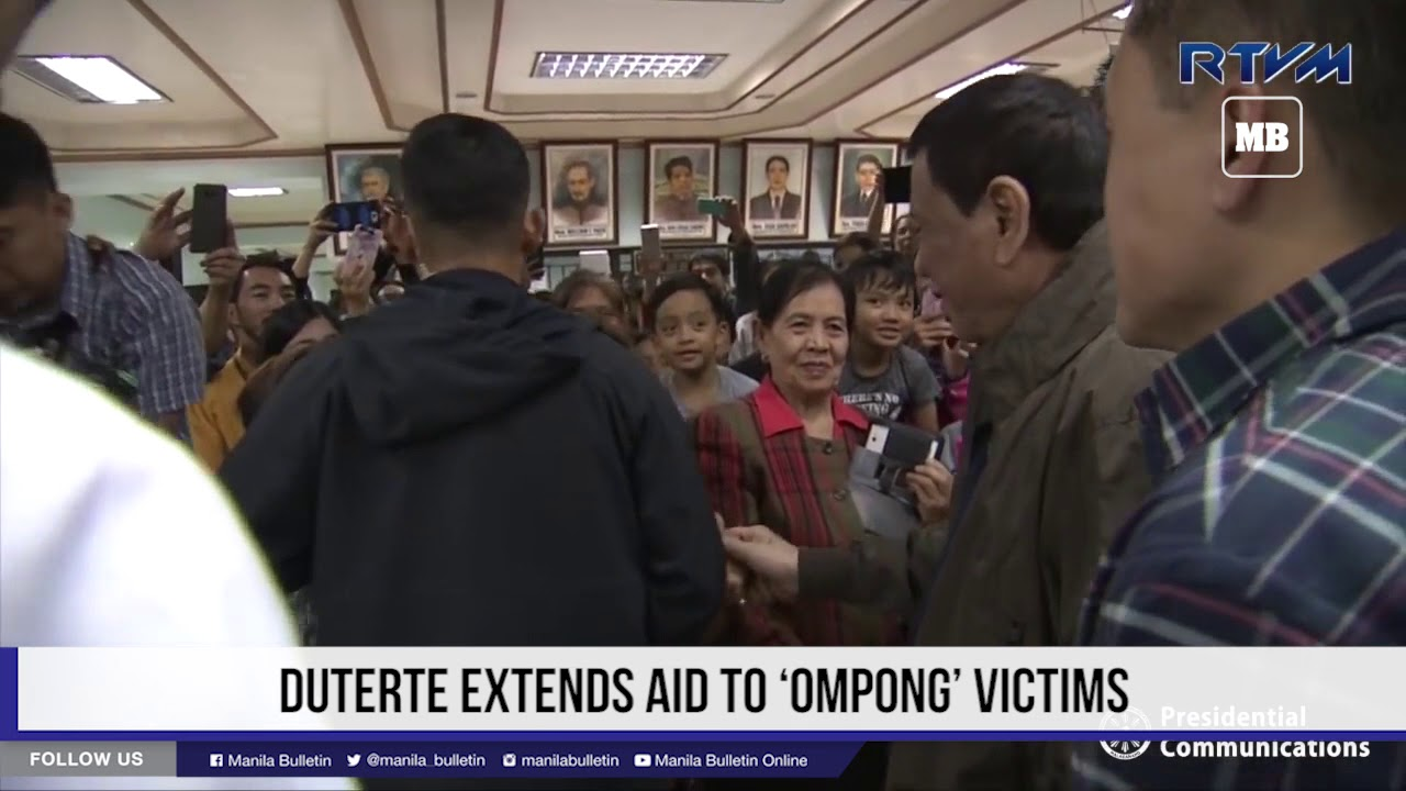 Duterte extends aid to 'Ompong' victims
