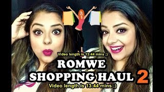 ROMWE SHOPPING HAUL 2   ALL UNDER RS 500   TRENDY ACCESSORIES & MAKEUP