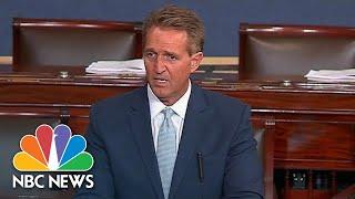 Full Speech: Jeff Flake Cautions Senators On Eve Of Brett Kavanaugh And Ford Hearings   NBC News