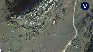 Imágenes aéreas del pueblo que vende el jeque dubaití en el berguedà