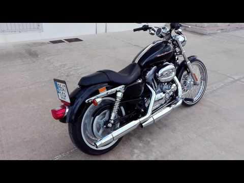 Mi Harley Sportster 883 Custom. Preciosa!