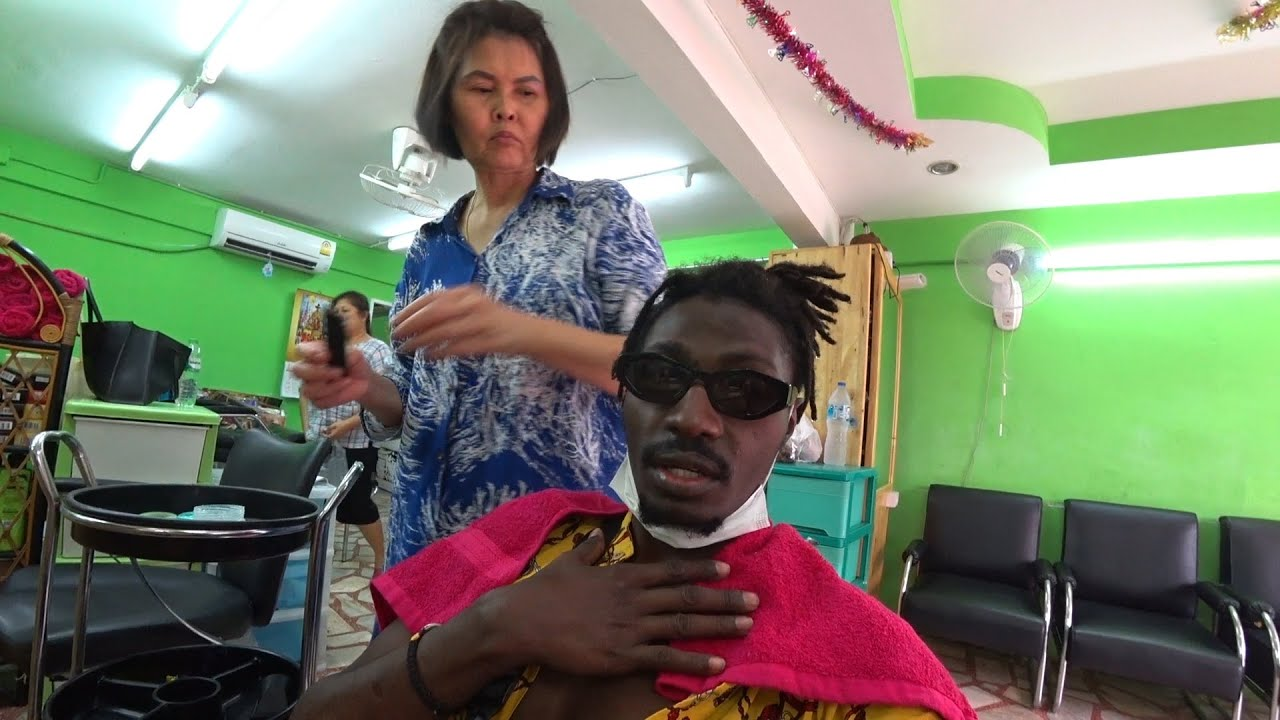 Thai female barber put to the test !!!