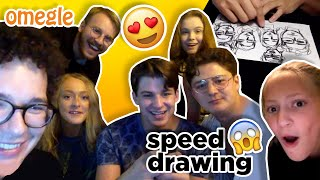 Speed Drawing on OMEGLE (Wholesome Reactions) | rooneyojr