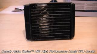 corsair hydro series h60 high performance liquid cpu cooler unboxing