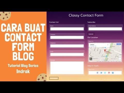 Ini adalah cara mudah membuat Contact Form di Blogspot. Ada banyak situs yang menyediakan script Con.