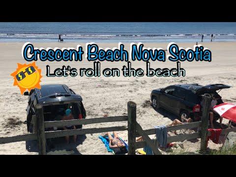 Crescent Beach Nova Scotia ☀️🌊 let's drive on the Beach :) la Have Bridge Water