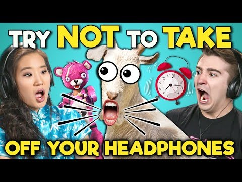 College Kids React To Try Not To Take Off Your Headphones Challenge