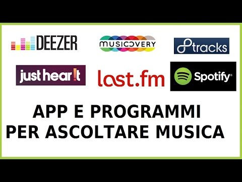 app, programmi e siti per ascoltare musica gratis pc computer