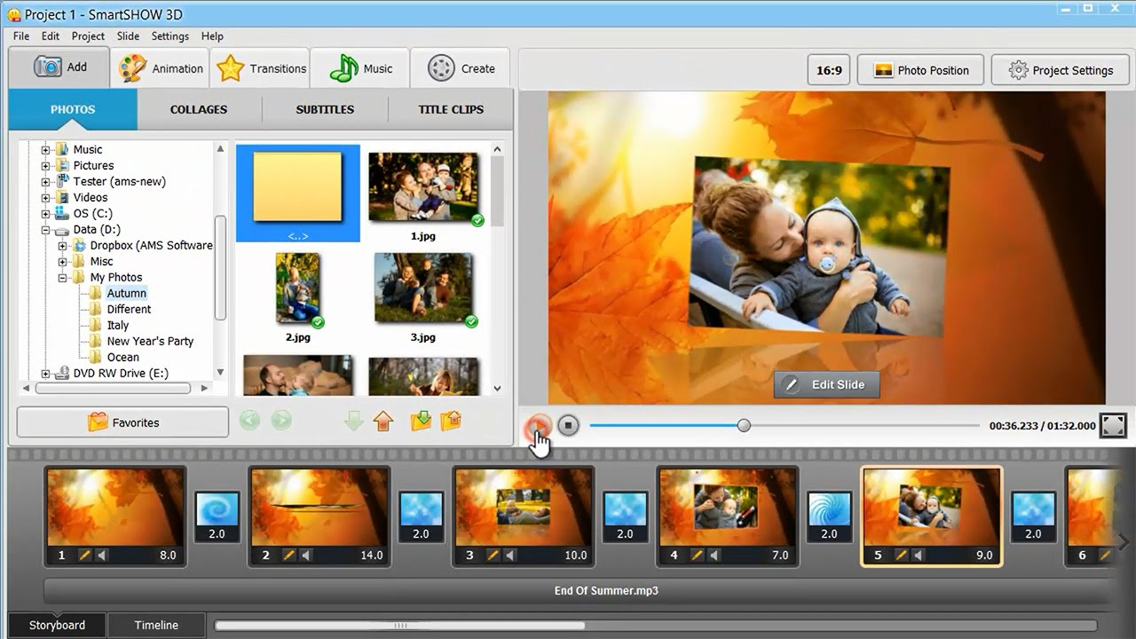 easy video slideshow maker software free download