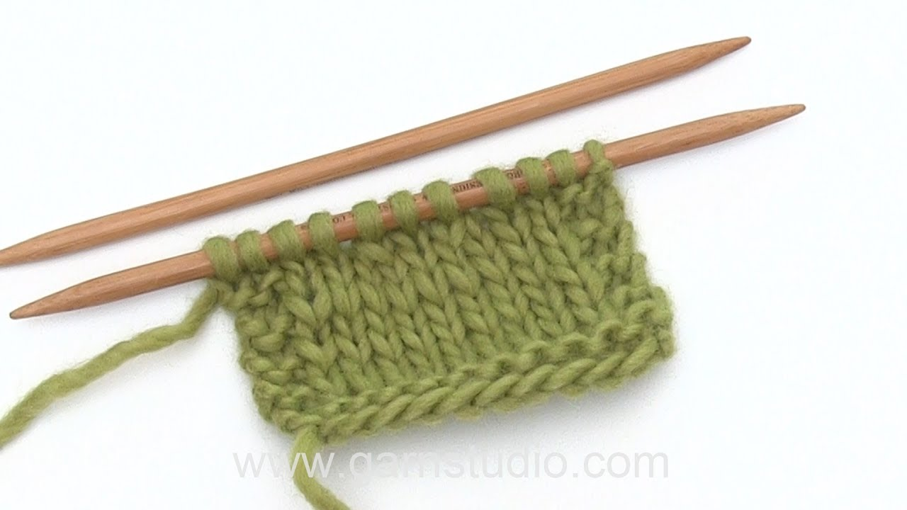 How To Decrease By Knitting 2 Stitches Together K2tog Youtube