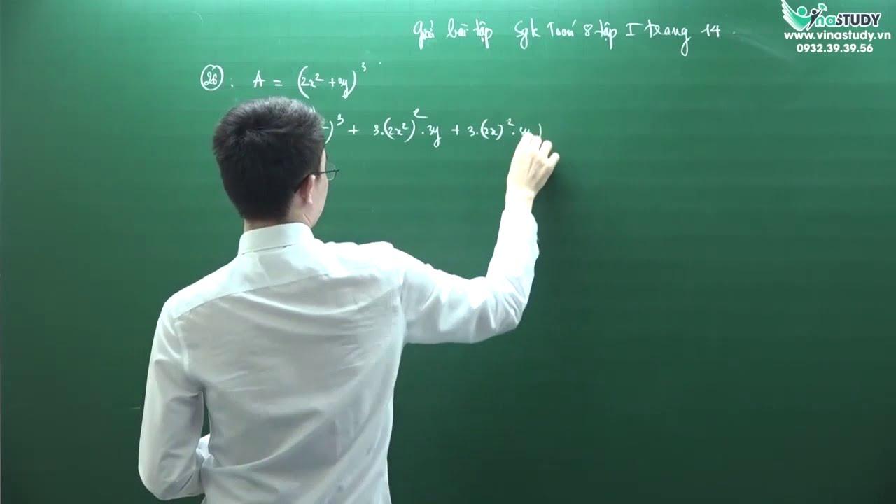 [Toán lớp 8] Giải bài tập trang 14 – Sách giáo khoa toán 8 tập 1