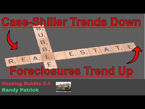 Housing Bubble 2.0 - Case Shiller Trending Down - Foreclosure Filings Trending Up