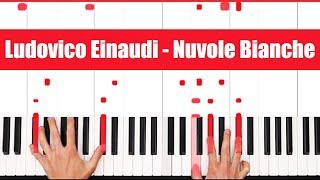 Nuvole Bianche Piano: Ludovico Einaudi Nuvole Bianche Piano Tutorial!