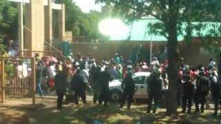 TUT Soshanguve South students on Strike on Valentines Day 2013
