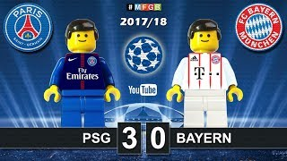 Paris Saint Germain PSG vs Bayern 3-0 • Champions League 2018 (27/09/2017) Goals Highlights Lego