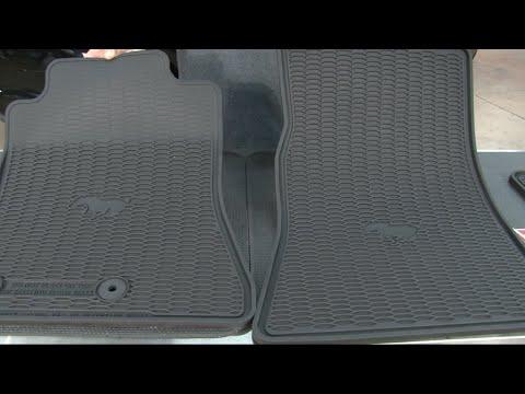 2015 2018 Mustang Ford Black Rubber Floor Mat Youtube