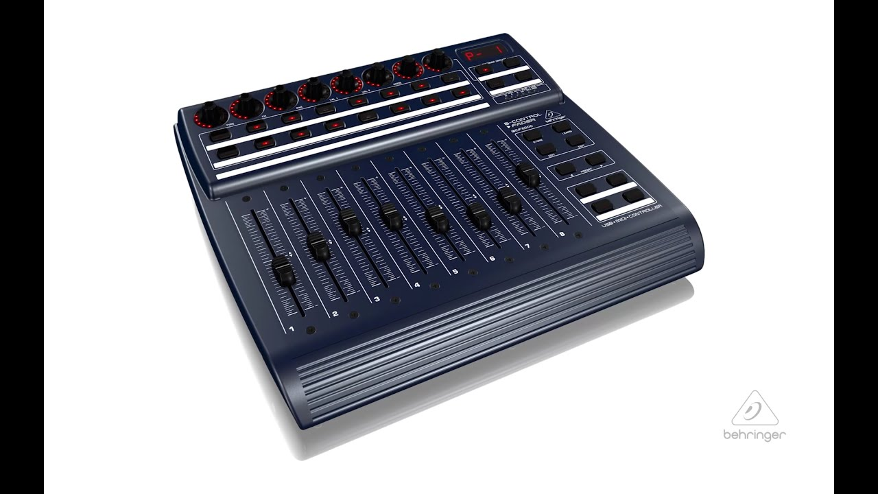 b control fader bcf2000 total recall usb midi controller
