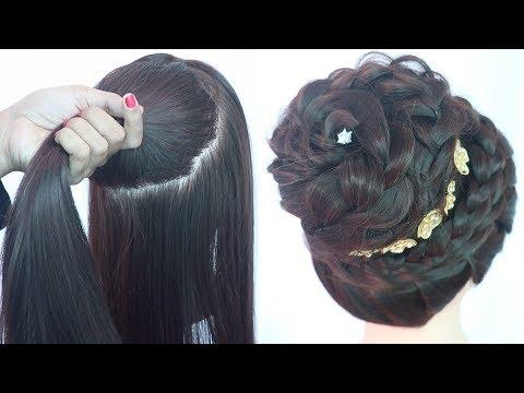 new-juda-hairstyle-for-diwali-|-messy-bun-|-hairstyle-for-thin-hair-|-latest-hairstyle-|-hairstyle