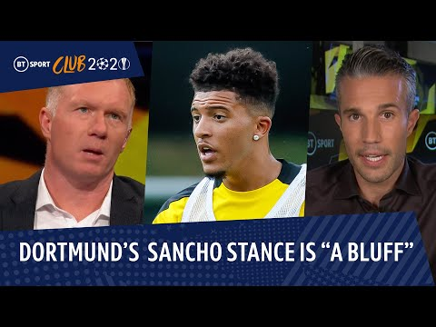 """Dortmund always sell!"" Sancho will join Man Utd believe Scholes and RVP"