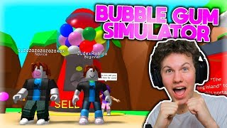 A NOOB SAMPLES BUBBLE GUM SIMULATOR (FIRST TIME!!)-Danish Roblox