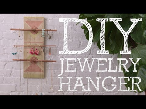 DIY Geometric Pattern Jewelry Hanger - HGTV