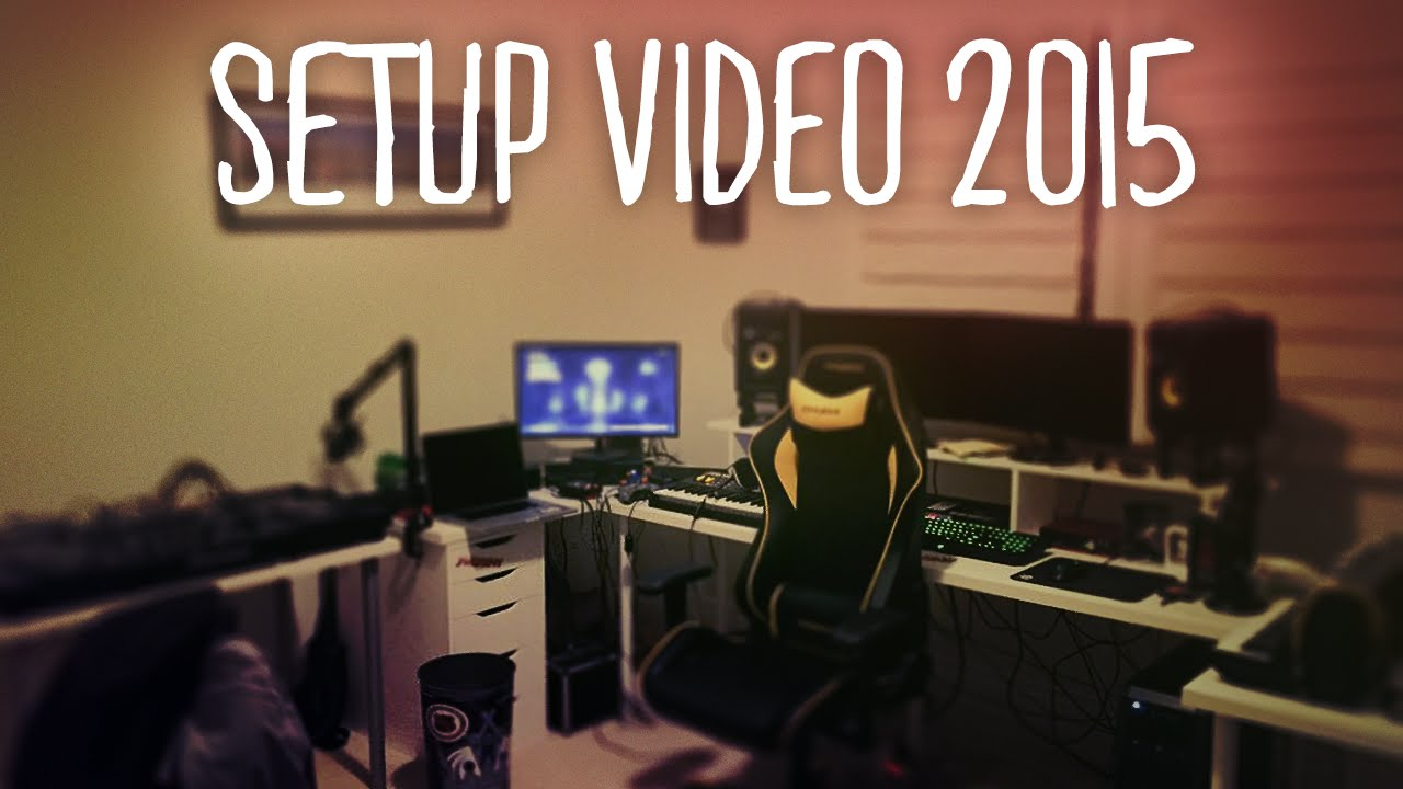 MrJamesGeary Setup Video For 2015 - My Gaming, Music, & Streaming Setup!