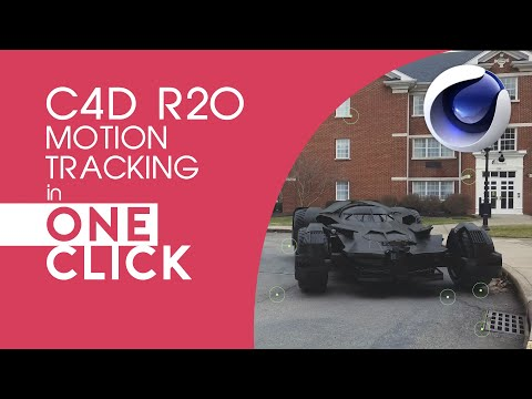 C4D R20's Motion Tracker is so easy and works so good