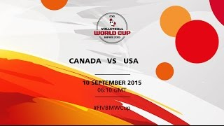 Canada v USA - FIVB Volleyball Men's World Cup Japan 2015