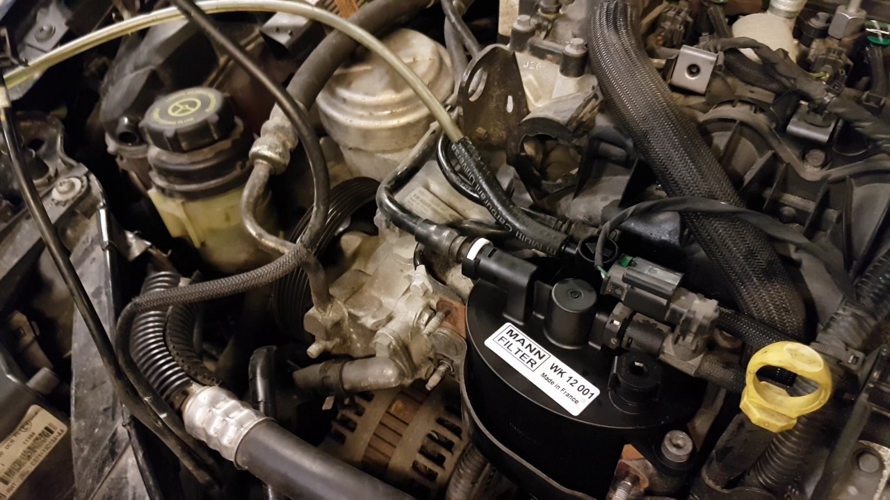 ford mondeo 2 2 tdci 2012 147kw 200hp fuel filter change [ 1280 x 720 Pixel ]