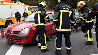 Journée portes ouvertes caserne de pompiers, 2 victimes coincés