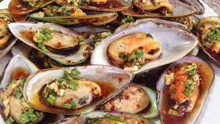 Grilled Mussels With Oyster Sauce   Chem Chep Nuong Dau Hao